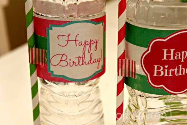 Free Printable Water Bottle Label Wraps ~ www.mom4real.com