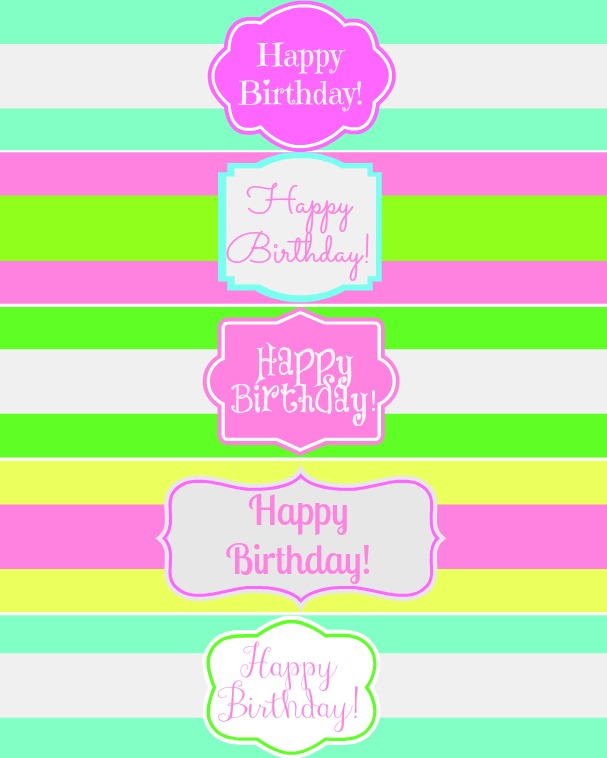 Free Printable Happy Birthday Water Bottle Label Wraps - Mom 4 Real