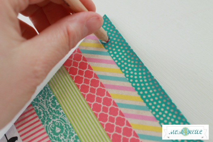 Washi Tape Banner at www.mom4real.com