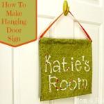 Make A Hanging Door Flag