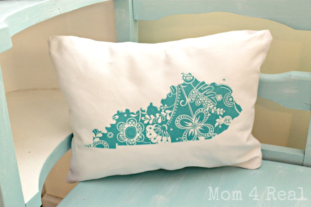 Kentucky Silhouette Pillow