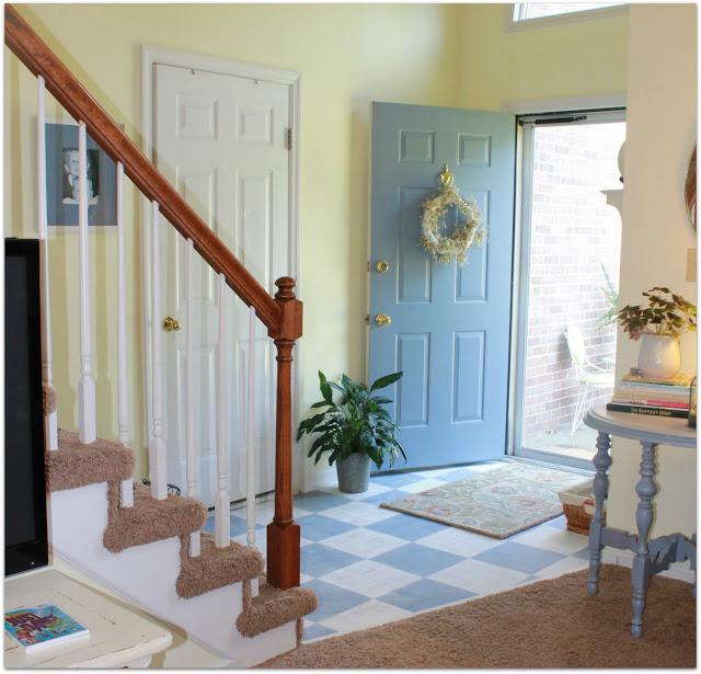 Painted Parquet Wood Floors