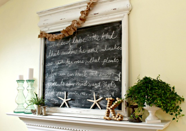 Chalkboard Above Mantel