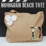 Monogrammed Beach Tote