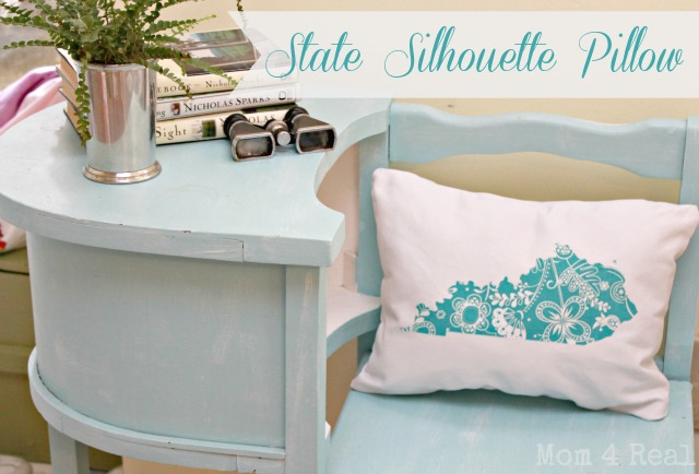 State Silhouette Pillow KY