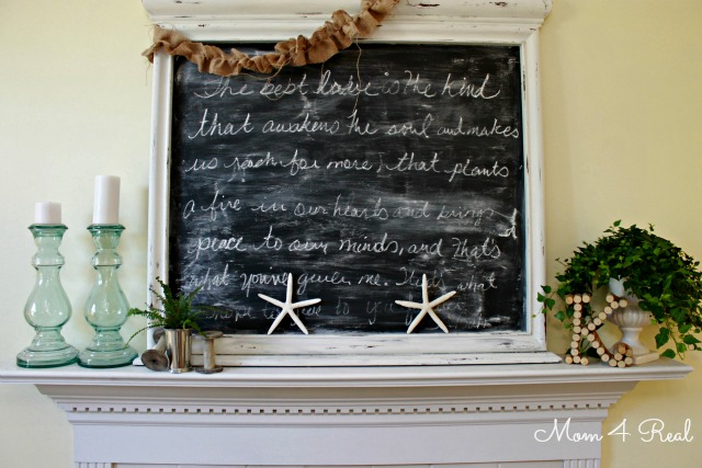 Summer Mantel at www.mom4real.com