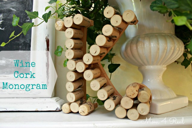 Wine Cork Monogram With Text