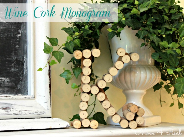 Wine Cork Monogram at www.mom4real.com