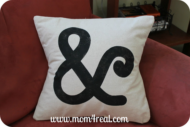 Ampersand Pillow (Crate and Barrel Knock-off) at www.mom4real.com