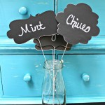 Chalkboard Plant Markers with Silhouette