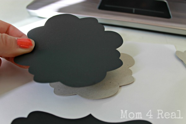 chalkboard plant markers with chipboard backs