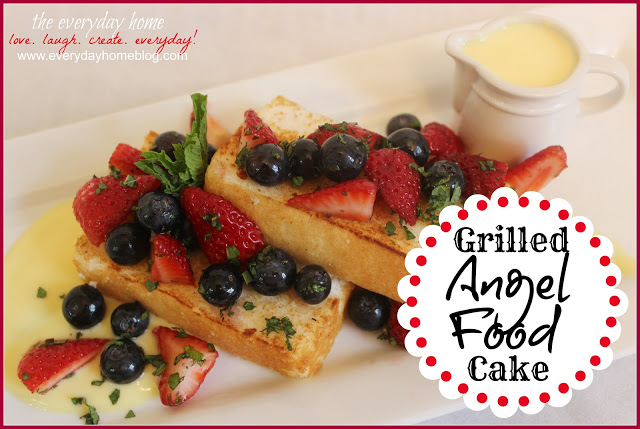 Grilled Angel Food Cake and An Announcement!!!