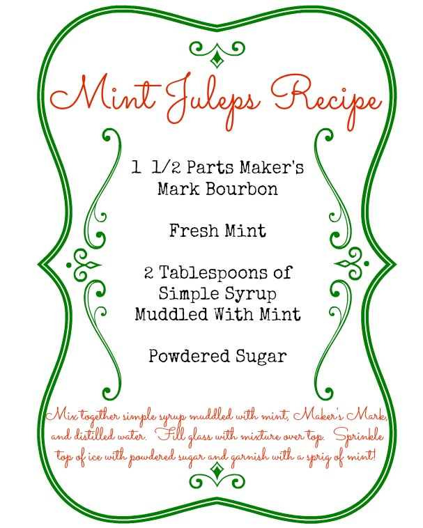 Free Mint Juleps Recipe Printable from www.mom4real.com