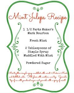 Mint Juleps Recipe