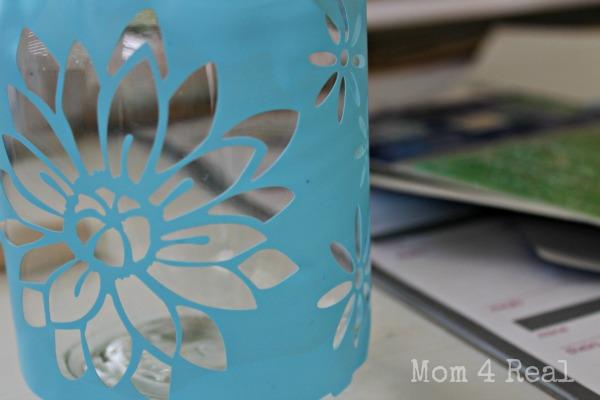 stencil mason jars