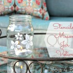 Stenciled Mason Jar Votives