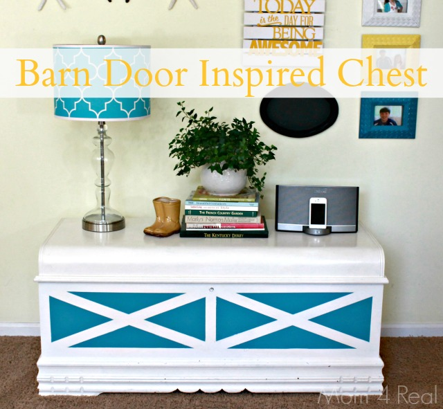 Barn Door Inspired Chest at Mom 4 Real