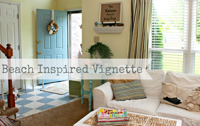 A Beach Inspired Vignette - Mom 4 Real