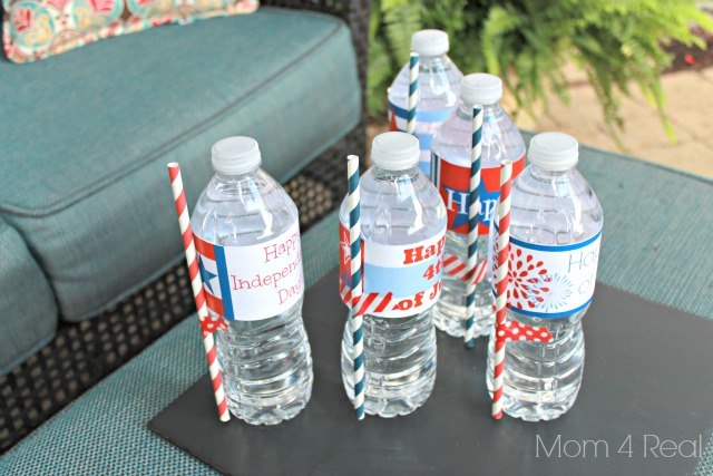 Free Printable 4th of July Water Bottle Label Wraps - Mom 4 Real