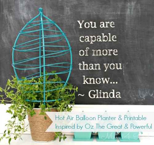 Hot Air Balloon Planter Inspired By OZ The Great and Powerful Featured
