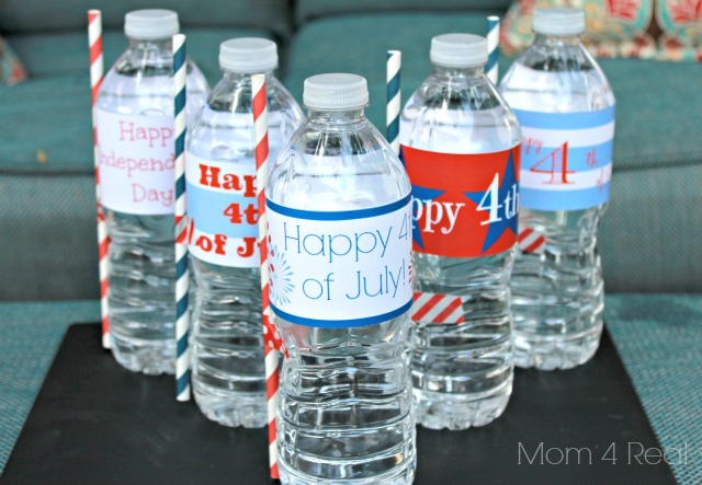 Printable Water Bottle Wraps