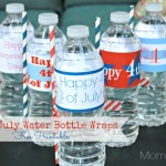 Free Printable 4th of July Water Bottle Label Wraps