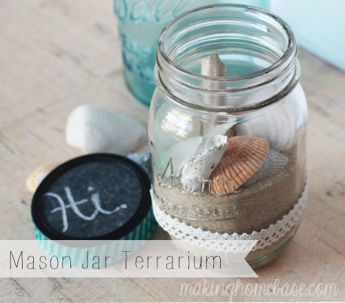 Beachy Mason Jar Terrarium Mom 4 Real