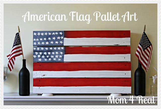 American Flag Pallet Art