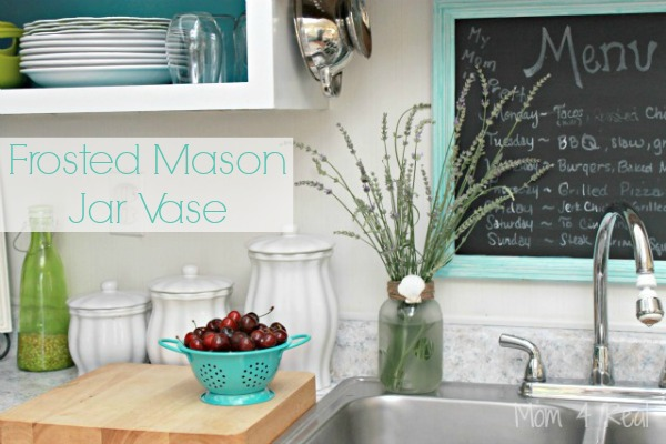 Frosted Mason Jar Vase Featured Image