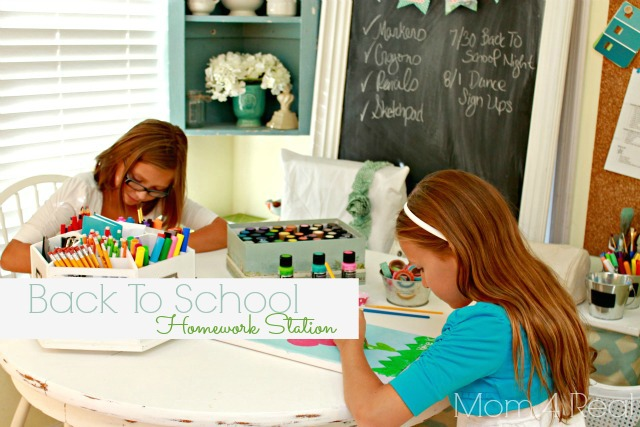 Back To School Homework Station - Mom 4 Real