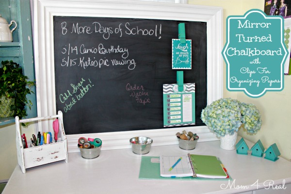 Mirror Turned Chalkboard