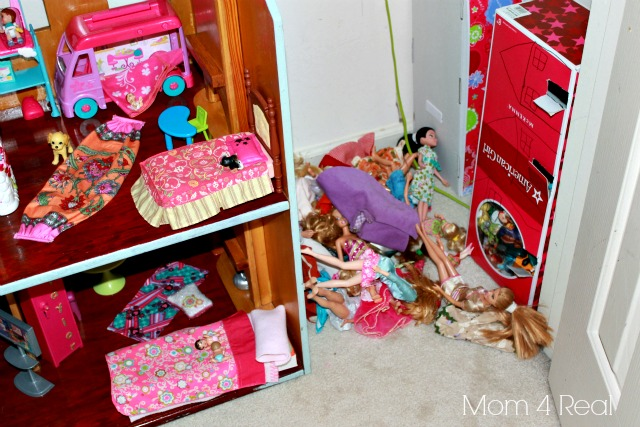 Organize Barbies