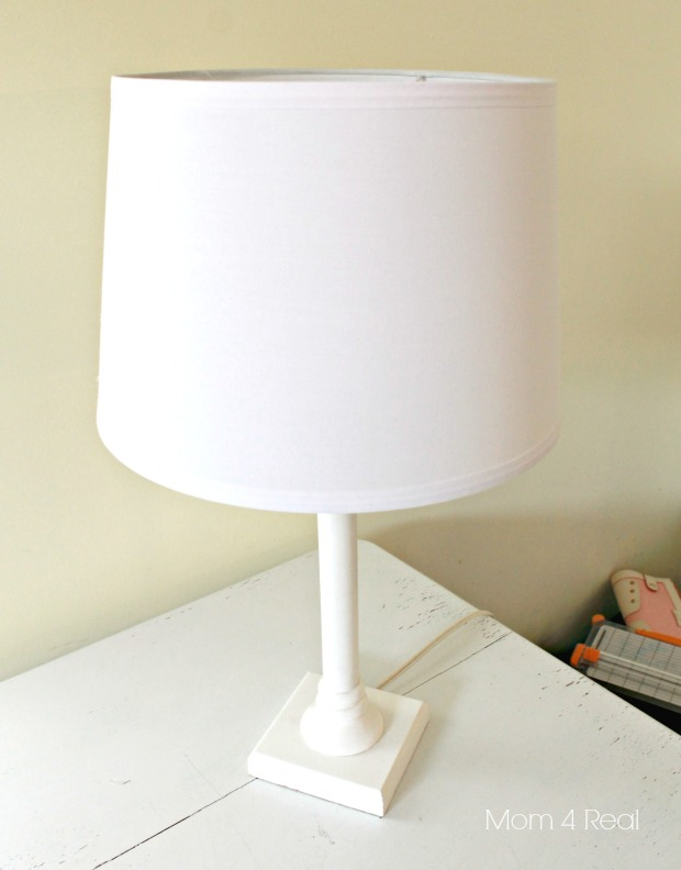 Stencil a Lamp Shade Before