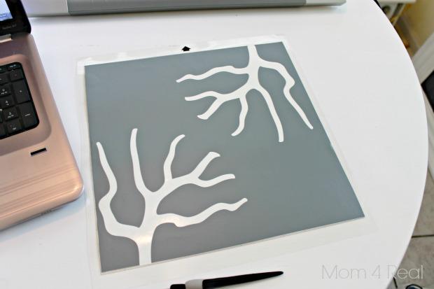 Stencil a Lamp Shade Cut Out
