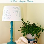 Stenciled Lamp Shade and Some News!