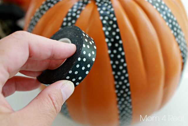 Decorate a Pumpkin With Washi Tape
