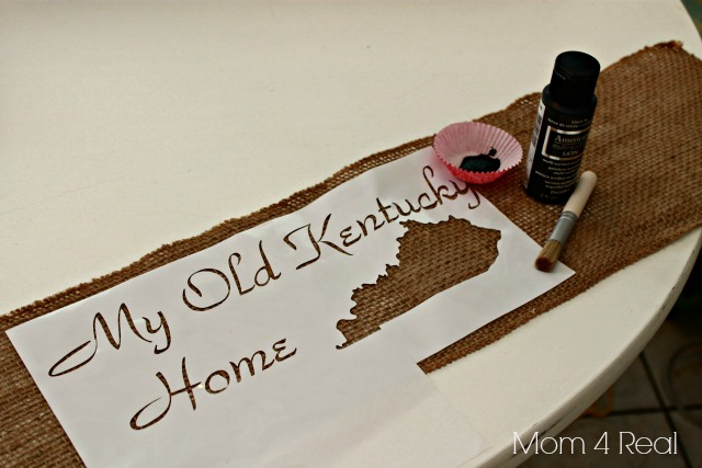 How To Stencil Burlap