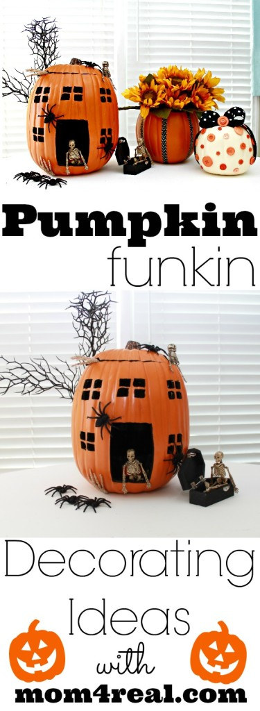 Pumpkin Decorating Ideas - Funkins - Foam Pumpkins