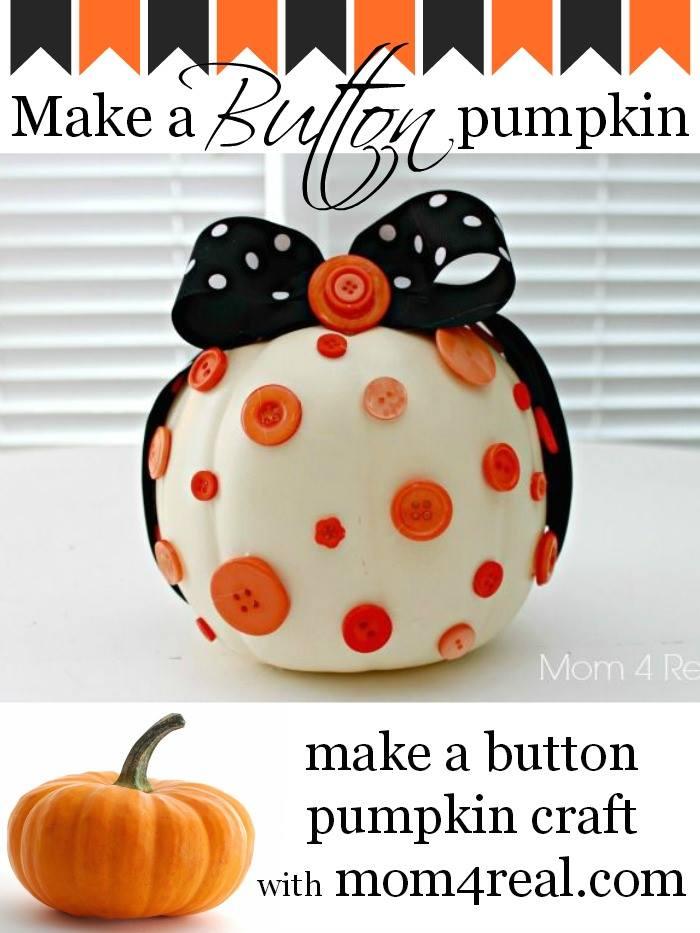 Make a Button Pumpkin Craft