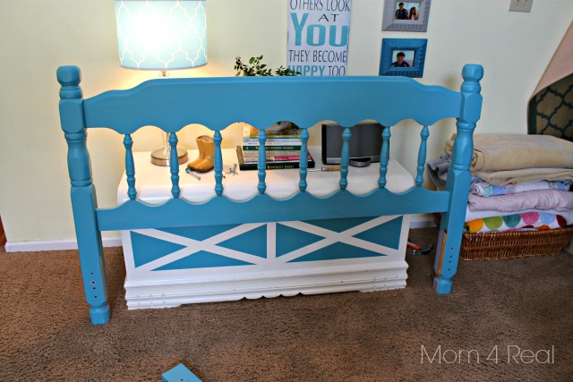 Make a Coat Rack From a Headboard Before
