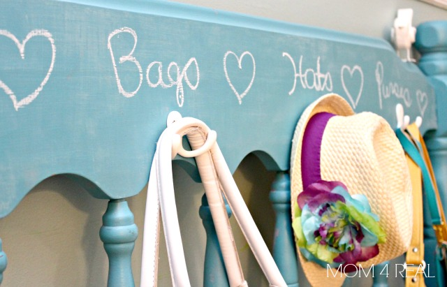 Make a Coat Rack From a Headboard Chalkboard