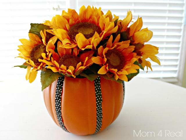 Make a Foam Pumpkin Vase