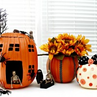 Pumpkin Decorating Ideas Using Foam Pumpkins (Funkins)