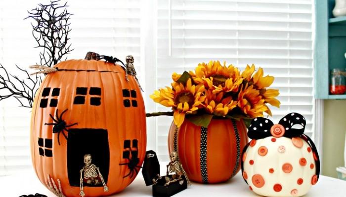 Pumpkin Decorating Ideas Using Foam Pumpkins (Funkins)