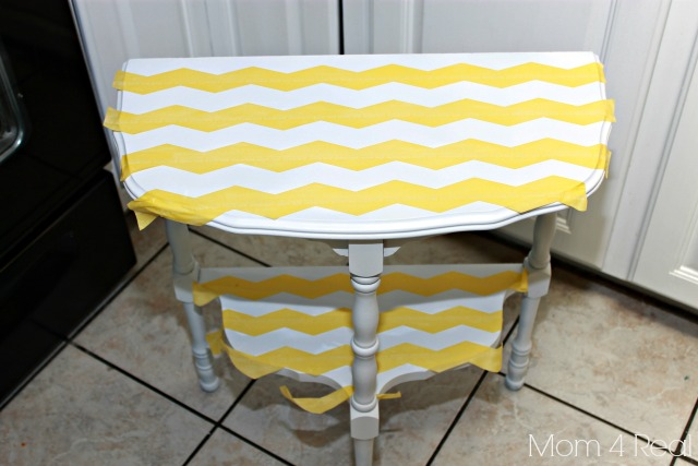 Paint a Chevron Side Table Step 2