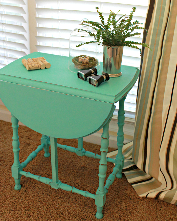 Houndstooth Stenciled Drop Leaf Table Mom 4 Real