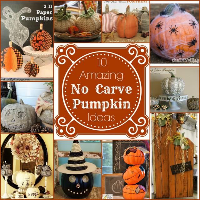No carve pumpkin ideas primp your features