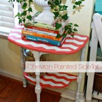 Chevron Painted Side Table