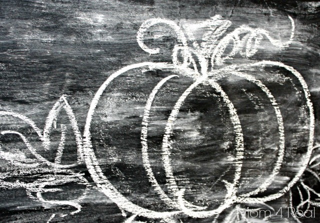 Draw a Pumpkin with Chalk