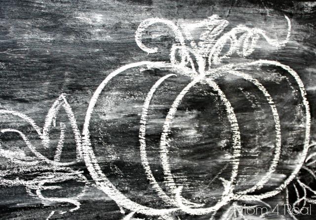 Draw a Pumpkin with Chalk